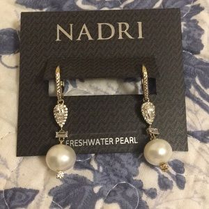 Nadri freshwater pearl earrings